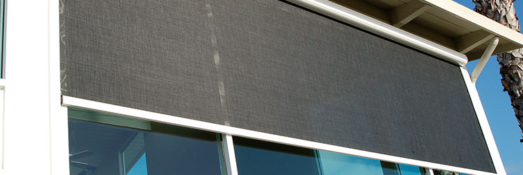 Retractable structures architectural fabric shade for Vertical retractable screen