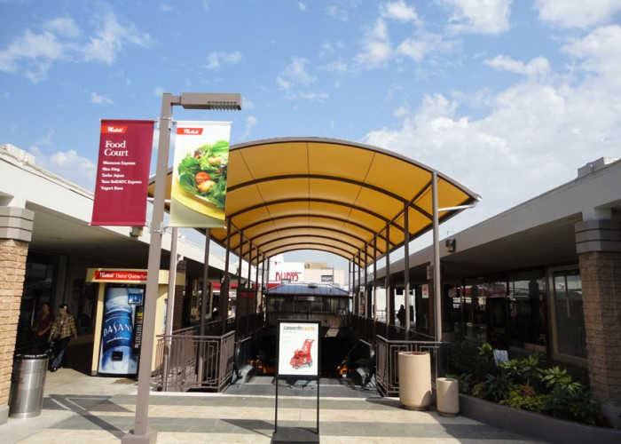 Free standing canopies architectural fabric shade for Shade cloth san diego