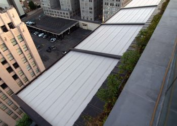 Opened Retractable Roof Canopy