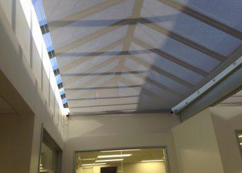 Retractable Skylight Shade Panels